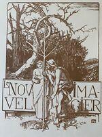 Auguste Lepere Gravure Sur Bois Woodcut Le Nouvel Imagier Art Nouveau