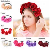 Boho Floral Flower Crown Headband Hair Garland Wedding Party Headpiece Hairband.