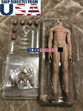 1/6 Super Flexible Male Muscular Seamless Figure Body DARK Steel Joints U.S.A.