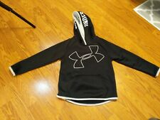 YOUTH UNDER ARMOUR SWEATSHIRT HOODIE KIDS BLACK MEASUREMENTS IN PICS