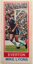 Topps 1980 Pink Back Chewing Gum Card Mike Lyons Everton FC
