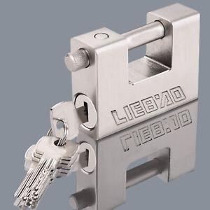 Heavy Duty 80MM Anti Rust Shutter Padlock High Security Shackle Lock 3 Keys