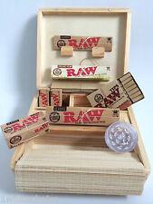 Scatola in legno Roll fumatori Gift Set Misto Raw Kingsize Papers SMERIGLIATRICE suggerimenti AFFARE