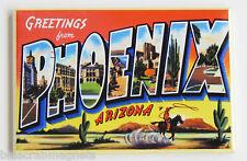 Greetings from Phoenix FRIDGE MAGNET (2 x 3 inches) arizona travel souvenir