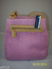 Charter Club Pink Straw Shoulder Bag Double Shoulder Straps, Magnetic Closure