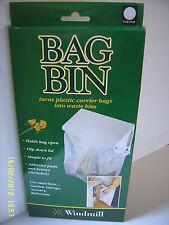 Carrier Bag Bin Holder, turn your bags into a Waste Bin ideal for caravan door