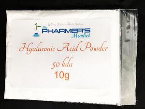 **SALE**10 Grams 50 kDa Hyaluronic Acid Powder Best Before Dec 2021