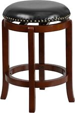 Flash Furniture 24'' High Backless Light Cherry Wood Counter Height Stool with B