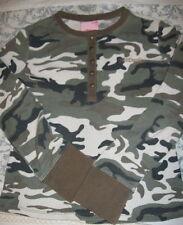 Girls Size Medium 10/12 SOUTHPOLE Camouflage L/S Top Cotton Blend