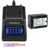 Kastar Battery LCD Quick Charger for Panasonic VW-VBT190 VBT190 VW-VBT380 VBT380