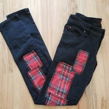 Tripp NYC Womens Jeans Plaid Skinny Punk Daang Goodman 27