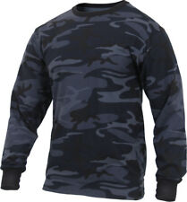 Camo Long Sleeve T-Shirt Tactical Military Crew Tee Undershirt Army Camouflage