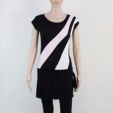 River Island Womens Size 12 Black Lightweight Midi Dress