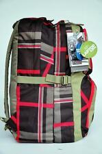 Jansport Laptop Backpack Merit OLIVE GREY RED NEW