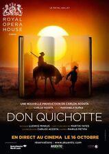 Affiche 120x160cm DON QUIXOTE (DON QUICHOTTE) 2013 Carlos Acosta Opera TBE #
