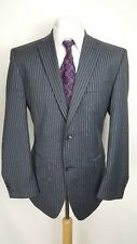 Pierre Cardin Mens Suit, Grey Striped, Wool Blend, Chest 42R, Trousers 34S, GC