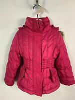 GIRLS MEXX PINK CASUAL WINTER [PADDED HOOD RAIN COAT JACKET KIDS AGE 3/4 YEARS