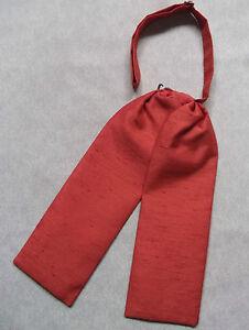 Wedding Cravat BOYS Adjustable Ascot Tie AGE 4 - 12 DARK ORANGE
