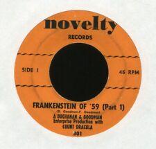 Count Dracula Frankenstein of '59 Novelty Halloween Cut-In 45 Hear