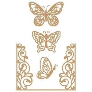 Prima Marketing Laser Cut Chipboard - Butterfly Flight 4pcs