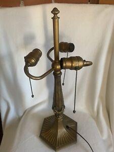 Antique 1920's  3 Hubbell Acorn Socket Signed MILLER Lamp Base Part