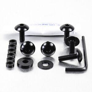 Screws Kit Fairing Aluminum Ducati Monster S2R 1000 05-07 Black