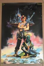 Galaxy Warrior Vintage Poster Irvine Peacock Meiklejohn Illustration 80's Pin-up