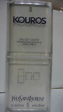 KOUROS UOMO EAU DE TOILETTE 2x25 ML SPRAY INTEGRO YVES SAINT LAURENT DA VIAGGIO