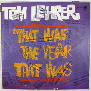 TOM LEHRER That Was The Yeaqr That Was LP SATIRE VG++ NM-