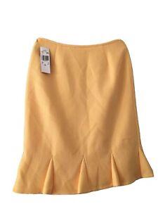 Le Suit Skirt Yellow Size 10 Vietnam Zipper