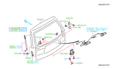 Genuine OEM Subaru Forester Back Door Stay Assembly - 2009 - 2013 (63269SC000)