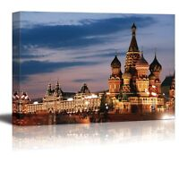 Canvas Prints Wall Art - Russia, Moscow, St. Basil Cathedral, Red Square-24 x 36