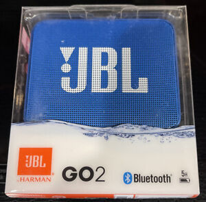 JBL GO 2 Portable Bluetooth Waterproof Speaker Blue (JBLGO2BLUAM)