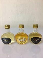 Lotto 3 Mignon Miniature Aurum Liquore Orange Persico Brandy 25cc