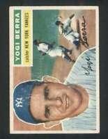 1956 Topps #110 Yogi Berra VGEX Yankees Grey Backs 126108