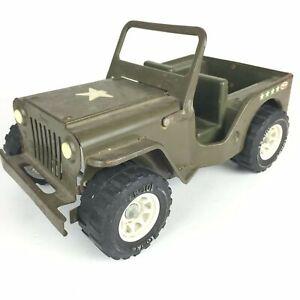 TONKA -Vintage US Army Jeep - Pressed Steel Toy