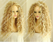 Wig New Long Sexy Women's Mix Blonde Cosplay Party Curly Natural Wigs+gitf