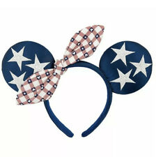 Disney Parks All American Girl 4th of July Minnie Mouse Ears Headband USA Flag