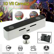 Mini VR 3D HD Camera Dual Lens Camcorder For Android Phone Titanium shell White