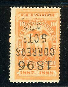 ECUADOR MH Selections: BERTOSSA #63.1 5c/10c INVERTED SCHG (1896) $$$