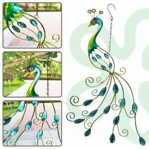 Acrylic Metal Peacock Wall Art Hanging Ornaments Peacock Pendant Home Garden