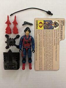 Gi Joe Vintage 1984 Scrap Iron Complete File Card Accessories Arah Lot Hasbro