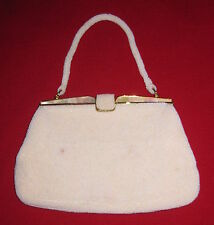 Vintage Mother Of Pearl White Beaded Evening Purse