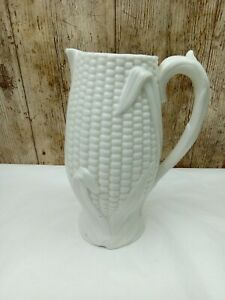 Rare Victorian Milk Glass 8 inch Corn Cob Jug (Date Lozenge on Base) Decorative