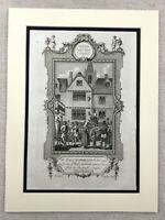 1791 Stampa Llywelyn Ap Gruffudd Esecuzione Testa Su Punta Antico Incisione
