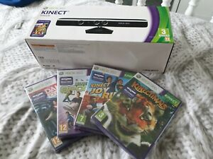 New & Sealed Xbox 360 Kinect Sensor With 4 extra Sealed games! Fast postage. UK