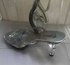 Ladies Metaphor Lucite Cinderella Shoe Size 9