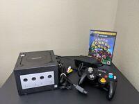 Nintendo GameCube DOL-001(USA) Black w/Controller & Cords and Super Monkey Ball