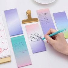 Gradual Change Rectangle Sticker Bookmark Post-IT Marker Flags Memo Sticky Notes