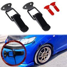 Black Car Bumper Trunk Fender Hatch Lids Quick Release Fastener Set Universal